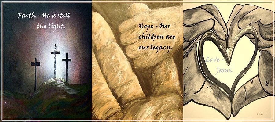 Faith Hope Love Painting