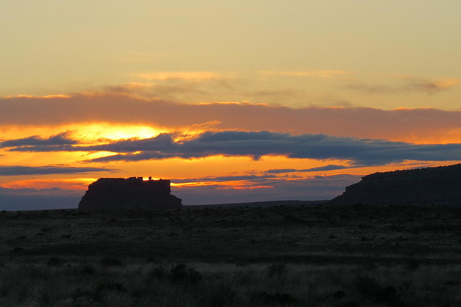 Fajada Butte At Sunrise Photograph