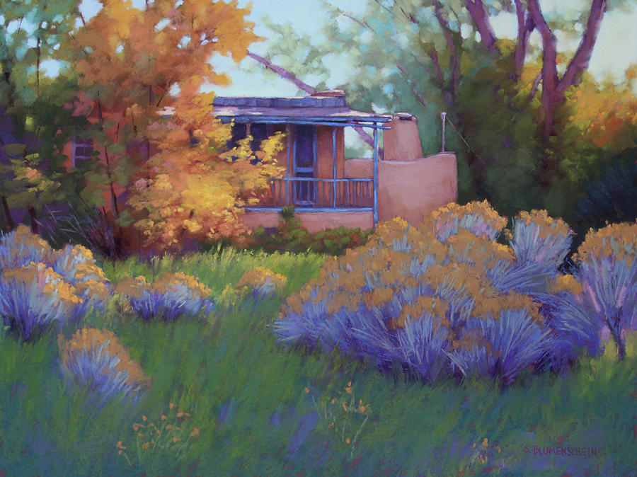 Fall Afternoon In Taos Nm Pastel