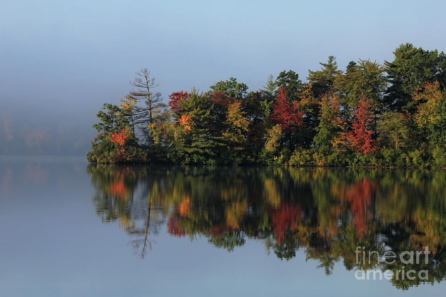 Fall At Heart Pond Photograph  - Fall At Heart Pond Fine Art Print