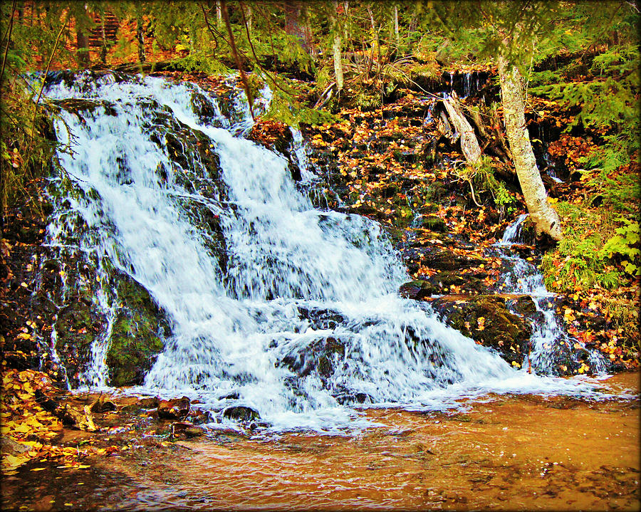 Fall at morgan falls marquette michigan by carol toepke for Morgan falls