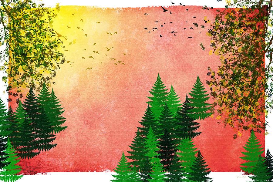 Fall Autumn Four Seasons Art Series Digital Art