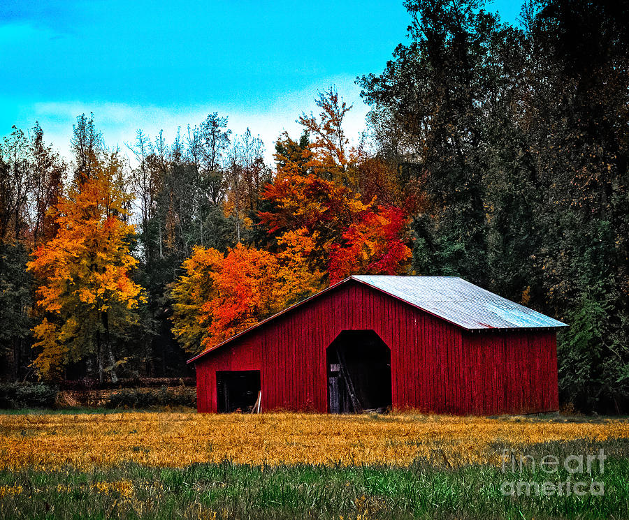 Fall Barn is a photograph by Scott Hervieux which was uploaded on ...