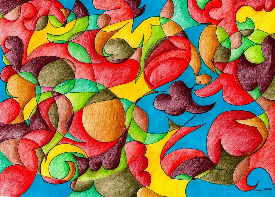 Fall Celebration Drawing  - Fall Celebration Fine Art Print