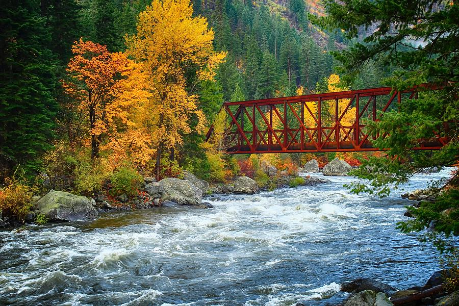 Fall Colors In Tumwater Canyon Photograph By Lynn Hopwood