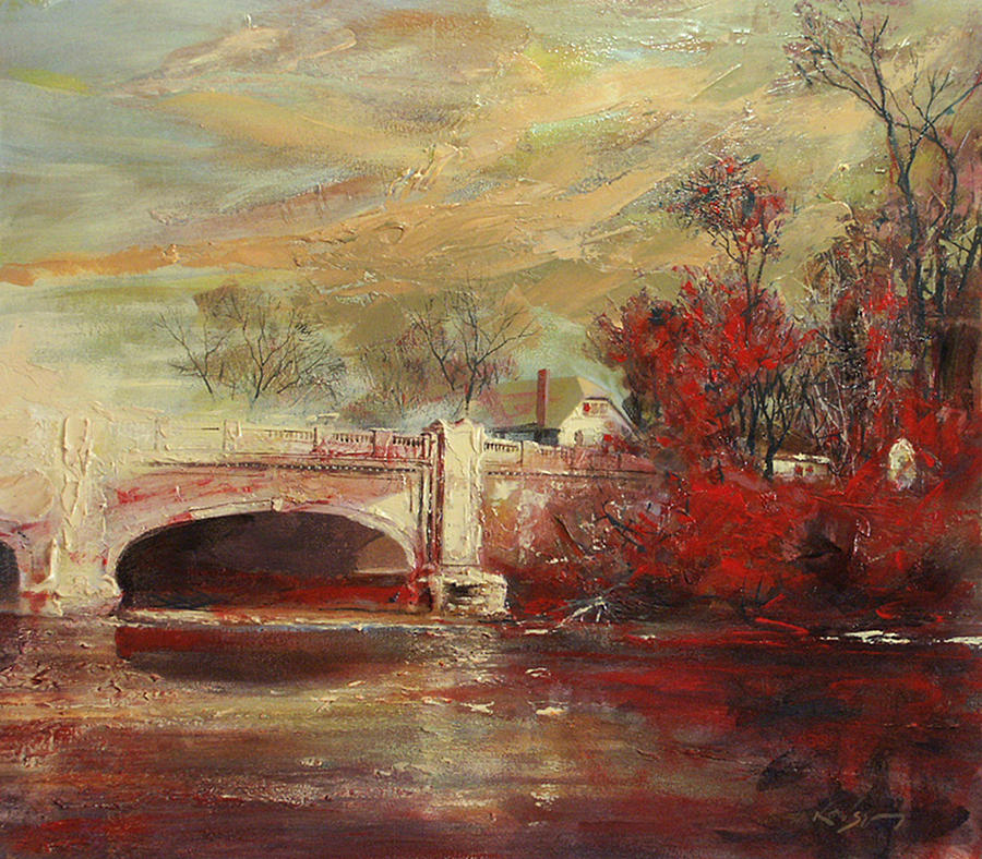 Fall creek bridge indianapolis by larry kaiser for Indianapolis painting company