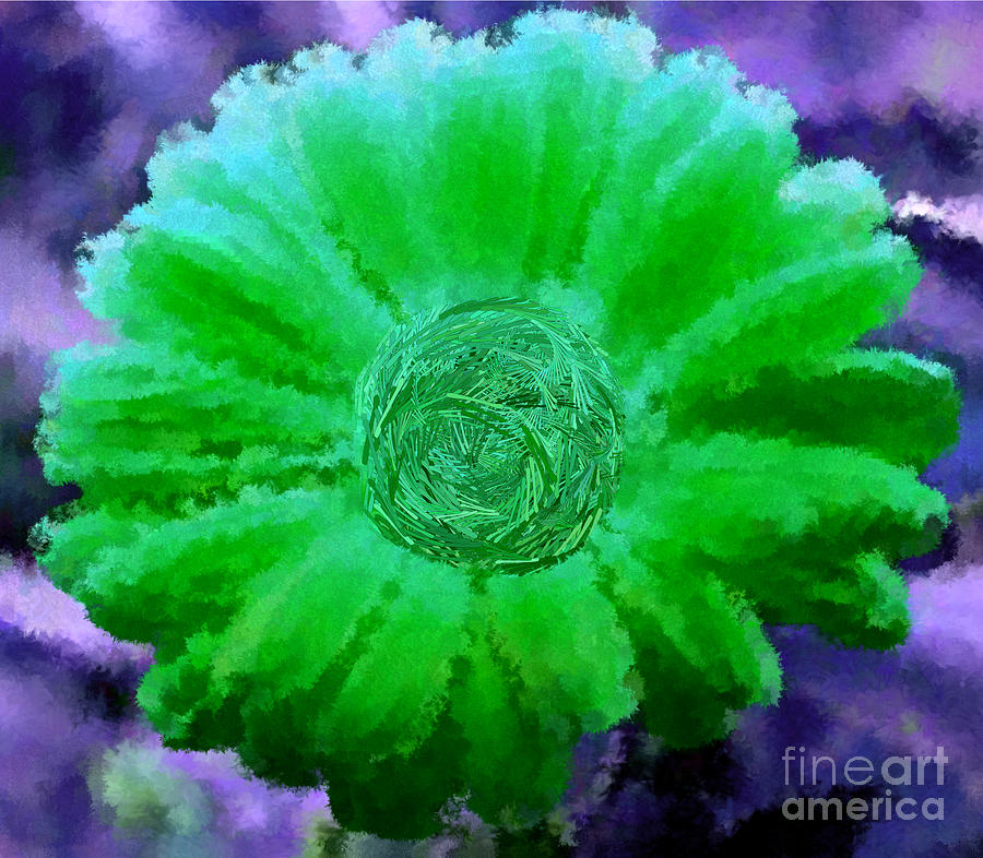 Fall For Me Purple Green Digital Art