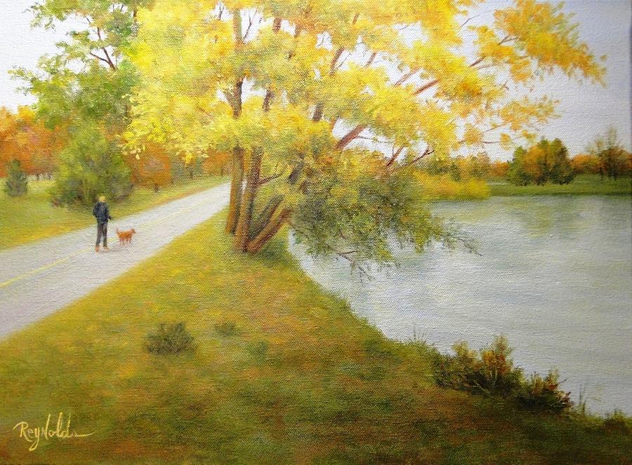 Fall Glory Greenlake Seattle Painting