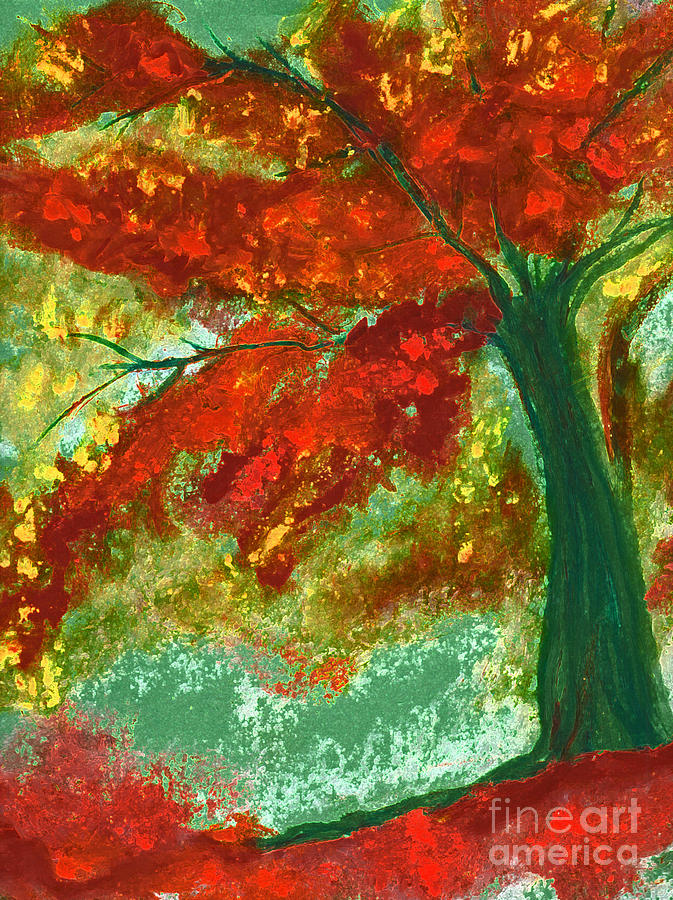 Fall Impression By Jrr Painting  - Fall Impression By Jrr Fine Art Print