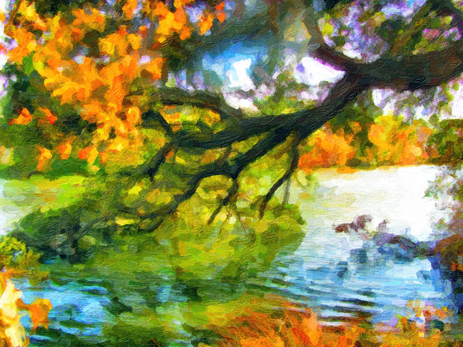 Fall Landscape Around The Lake 8 Painting