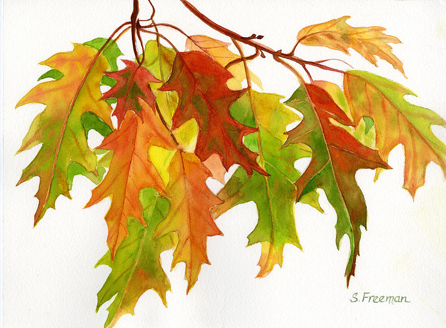 Fall leaf paintings images pictures becuo - Leaves paintings and drawings ...