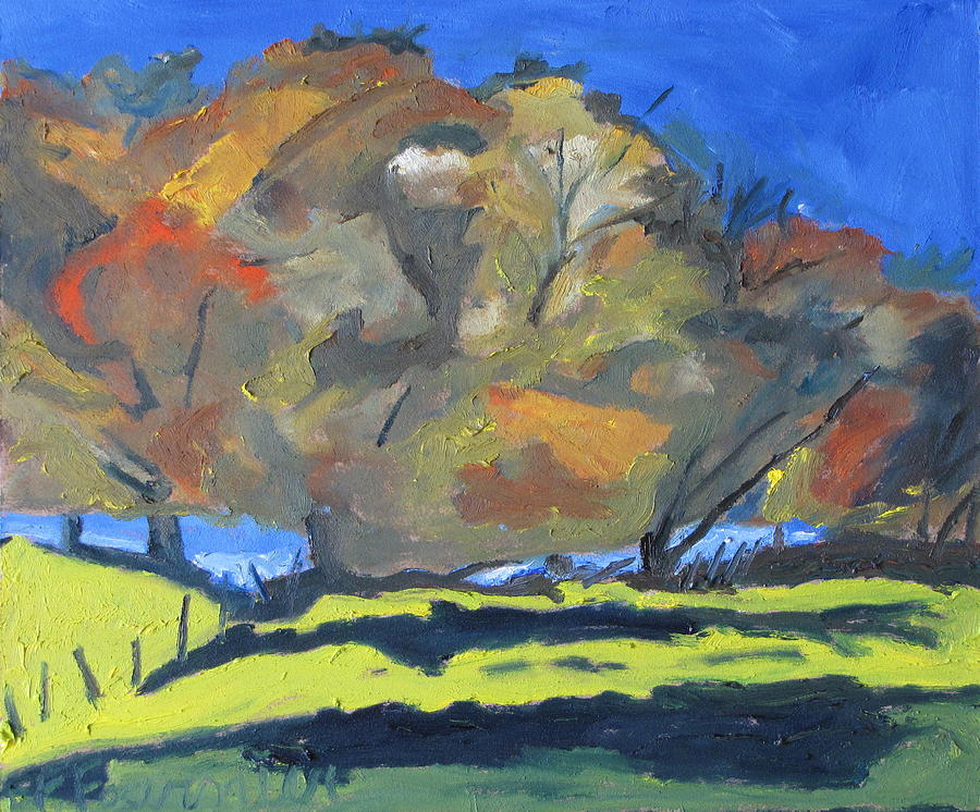 Fall On A Blue Sky Painting