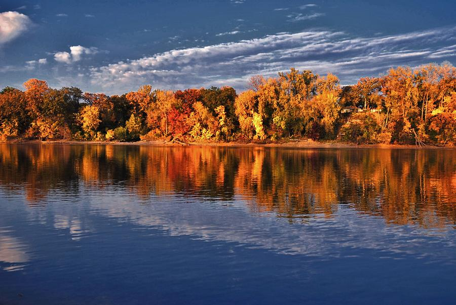 Fall On The Mississippi River Photograph  - Fall On The Mississippi River Fine Art Print
