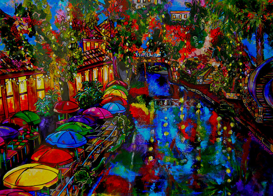 Fall On The Riverwalk Painting