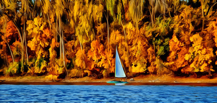 Fall Sailing  Photograph  - Fall Sailing  Fine Art Print