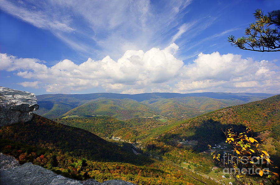 North Fork Mountain Photograph - Fall Scene From North Fork Mountain by Dan Friend