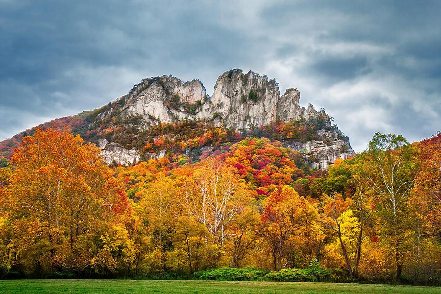 Fall Storm Seneca Rocks Photograph