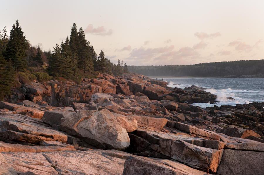 Sea Photograph - Fall Sunrise In Acadia by Phyllis Peterson
