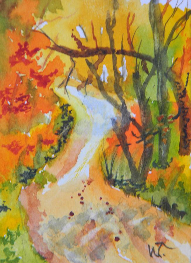 Fall Trail Painting  - Fall Trail Fine Art Print
