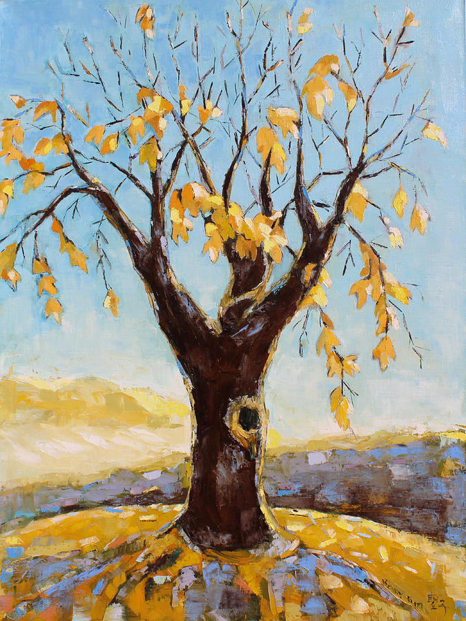 Fall Tree In Virginia Painting  - Fall Tree In Virginia Fine Art Print