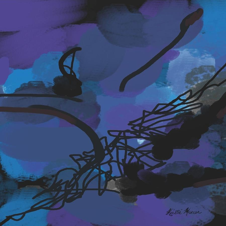 Abstract Painting - Fallen Ballerina by Kristie Mercer