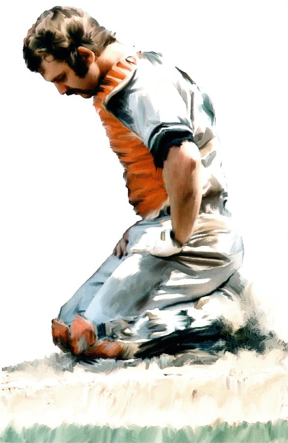 Fallen Captain  Thurman Munson Painting