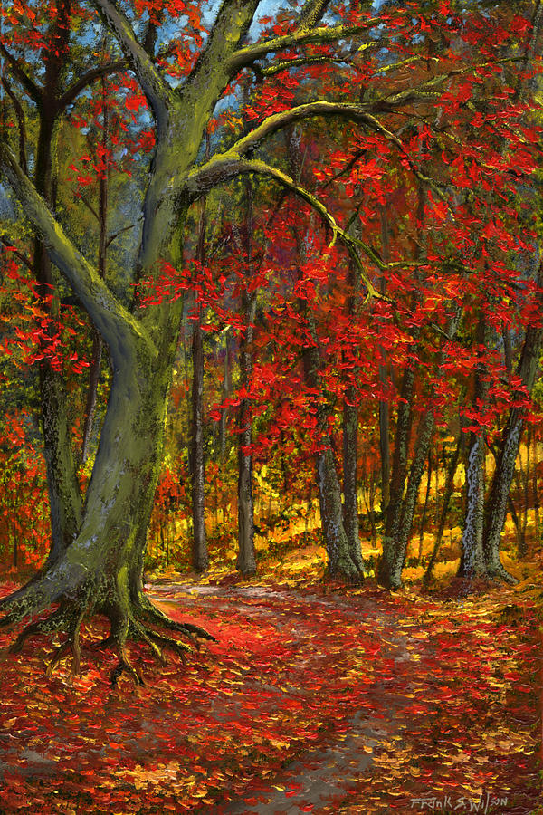 Landscape Painting - Fallen Leaves by Frank Wilson