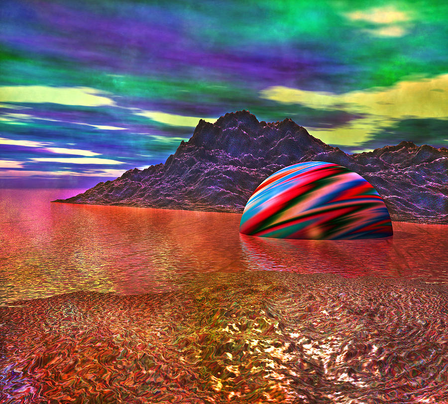 Fallen Planet Digital Art  - Fallen Planet Fine Art Print