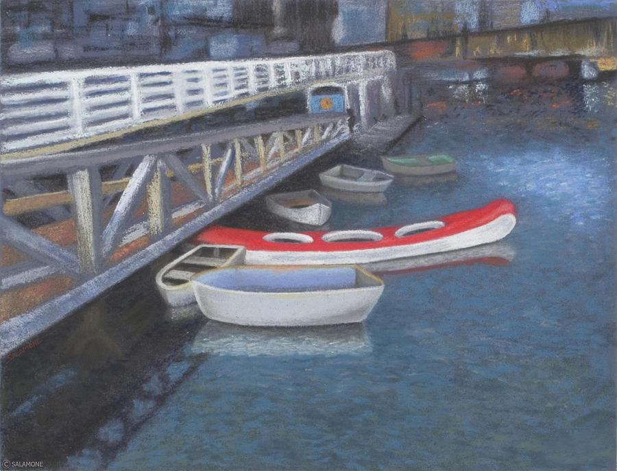 False Creek Ferry Landing Pastel