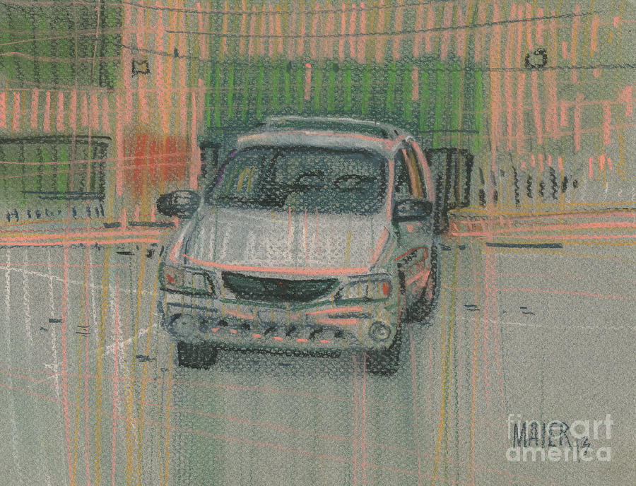 Family Car Painting  - Family Car Fine Art Print