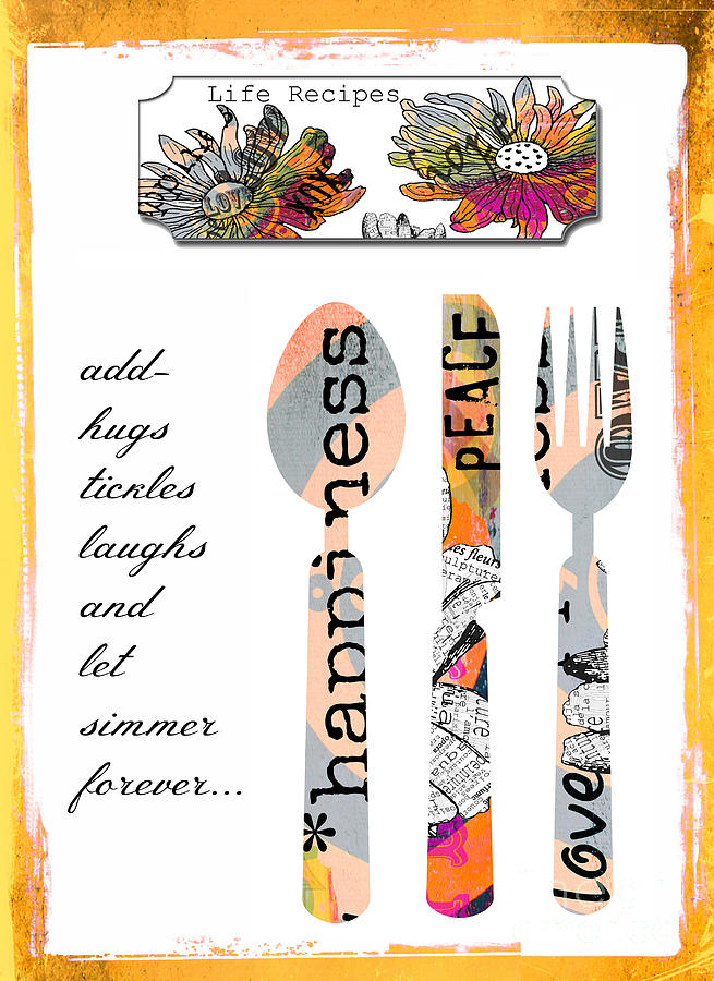 Family Love Recipes Digital Art  - Family Love Recipes Fine Art Print