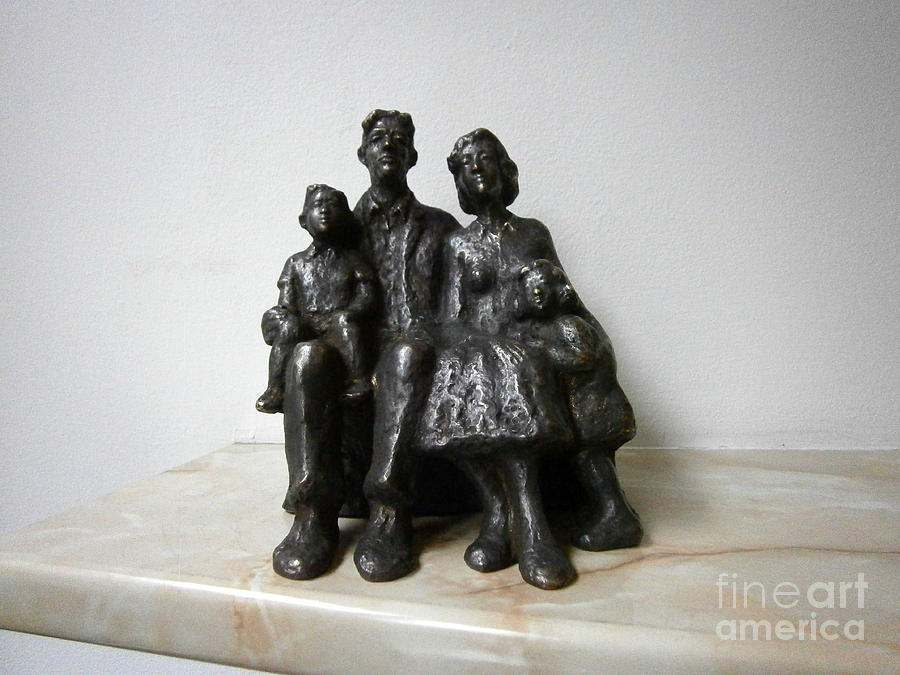 Family Sculpture  - Family Fine Art Print