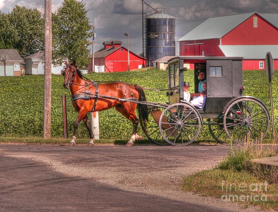 Nappannee Indiana Photograph - Family Outing by David Bearden
