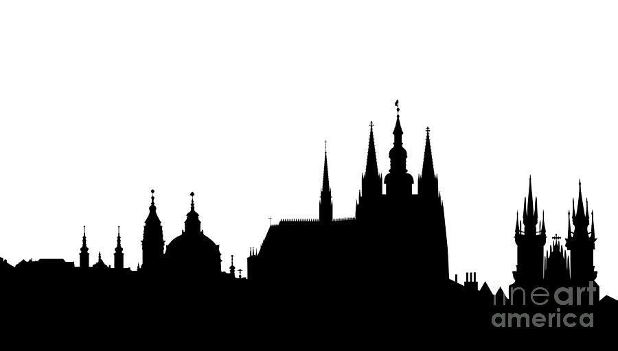 famous landmarks of Prague Digital Art