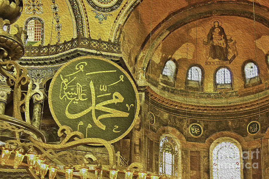 Famous The Hagia Sophia Photograph  - Famous The Hagia Sophia Fine Art Print
