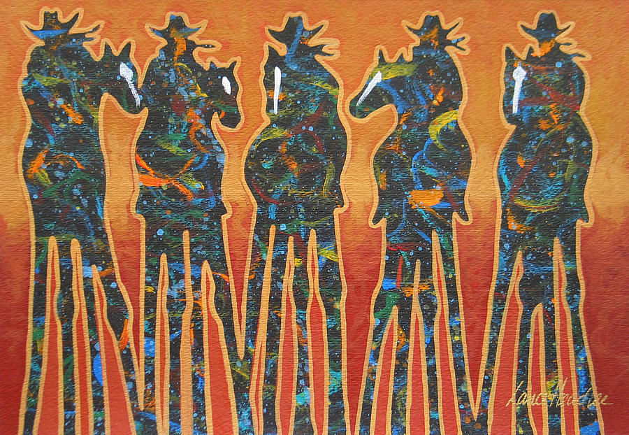 Fandango Five Painting  - Fandango Five Fine Art Print