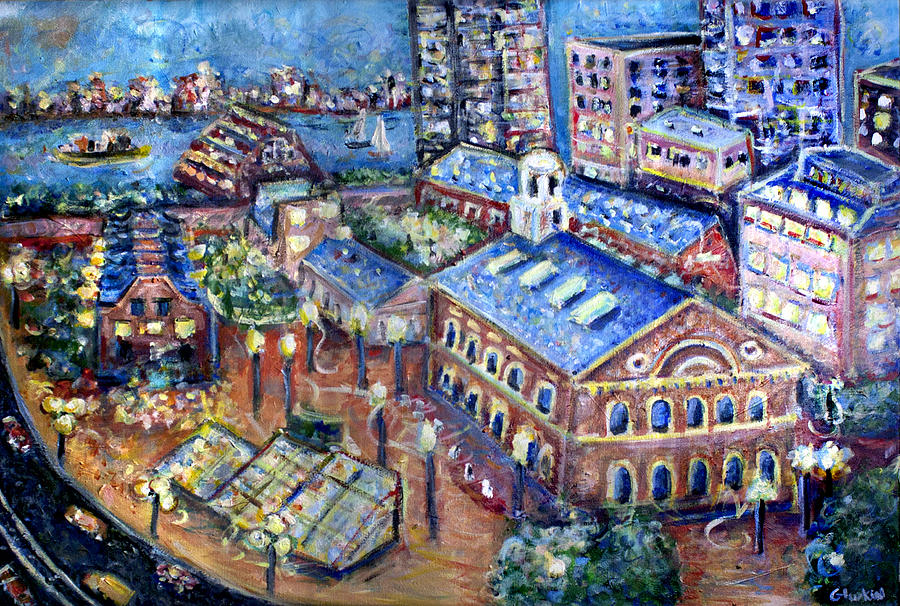 Boston Painting - Faneuil Hall by Jason Gluskin