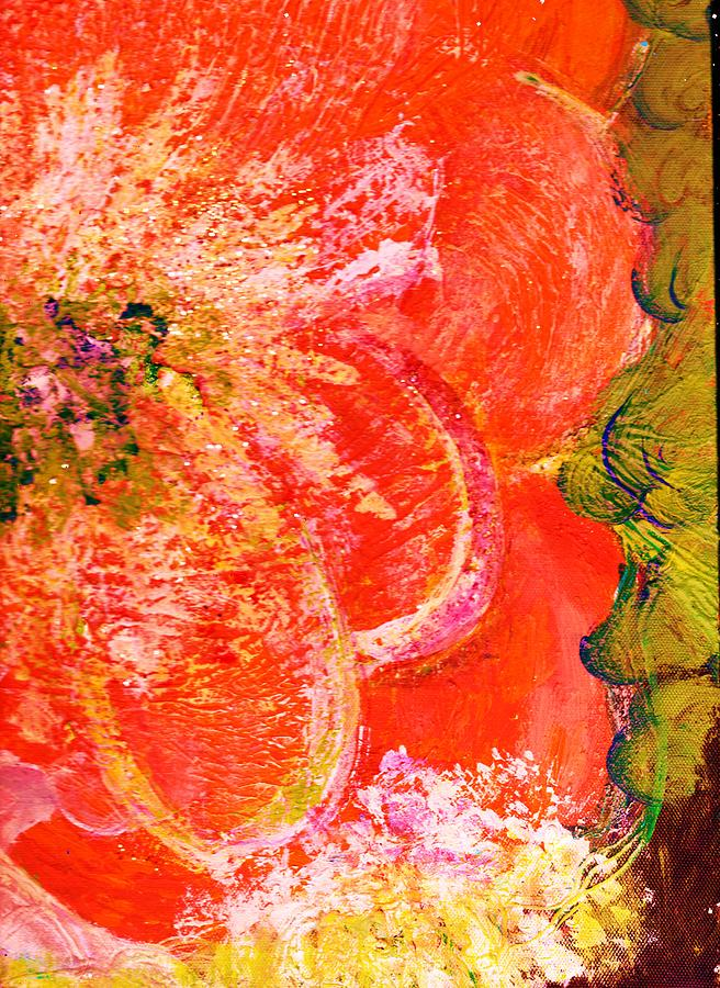 Fantasia With Orange  Painting  - Fantasia With Orange  Fine Art Print