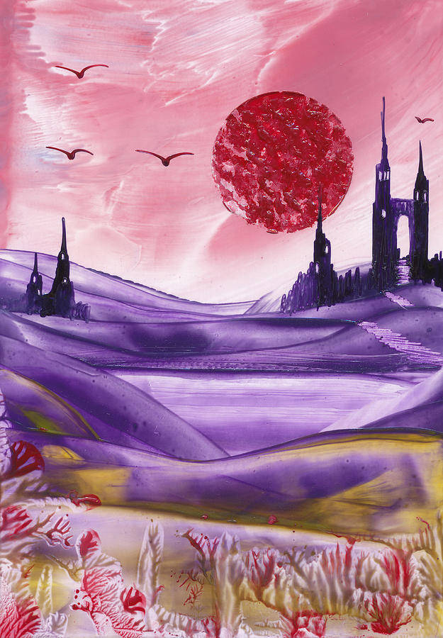 Fantasy Castle Series 6 Painting  - Fantasy Castle Series 6 Fine Art Print