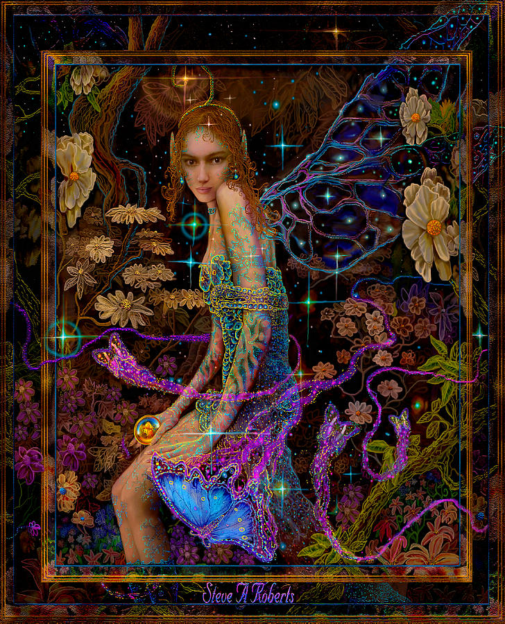 Fantasy Fairy Princess Painting  - Fantasy Fairy Princess Fine Art Print