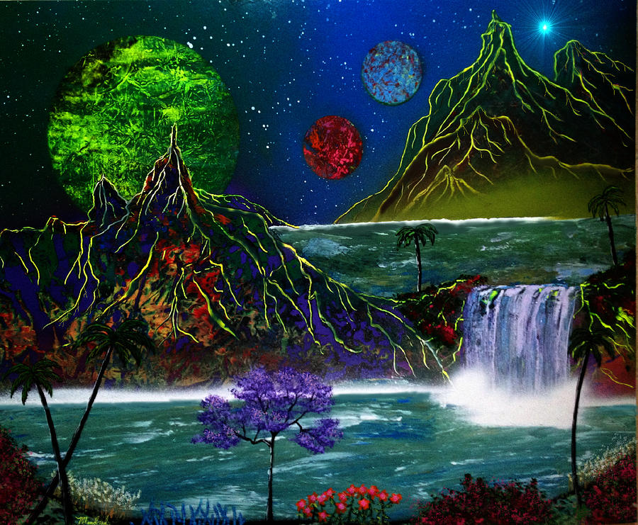 Fantasy Planets Painting
