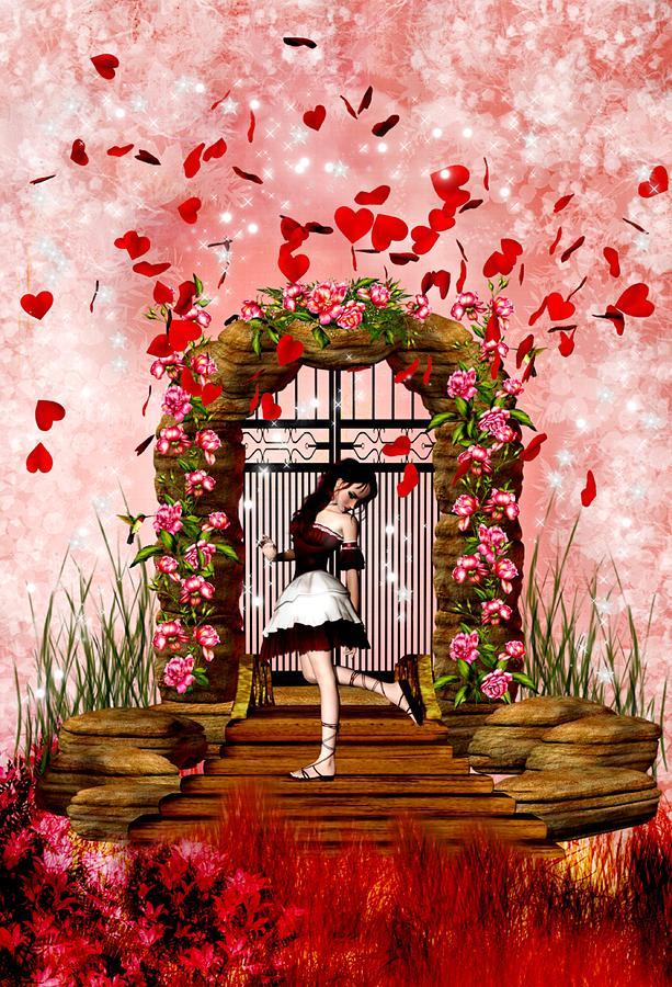 Fantasy Valentine Girl Digital Art