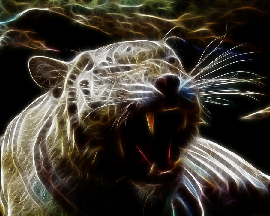 Fantasy white tiger - photo#16