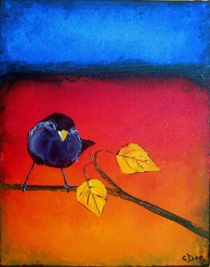 North Painting - Far Far North Among The Birch 2 by Carolyn Doe