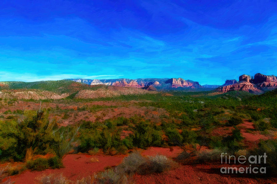 Far View - Oil Photograph  - Far View - Oil Fine Art Print