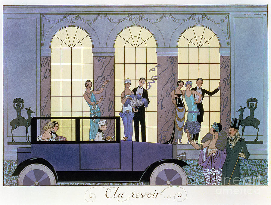 Print Painting - Farewell by Georges Barbier