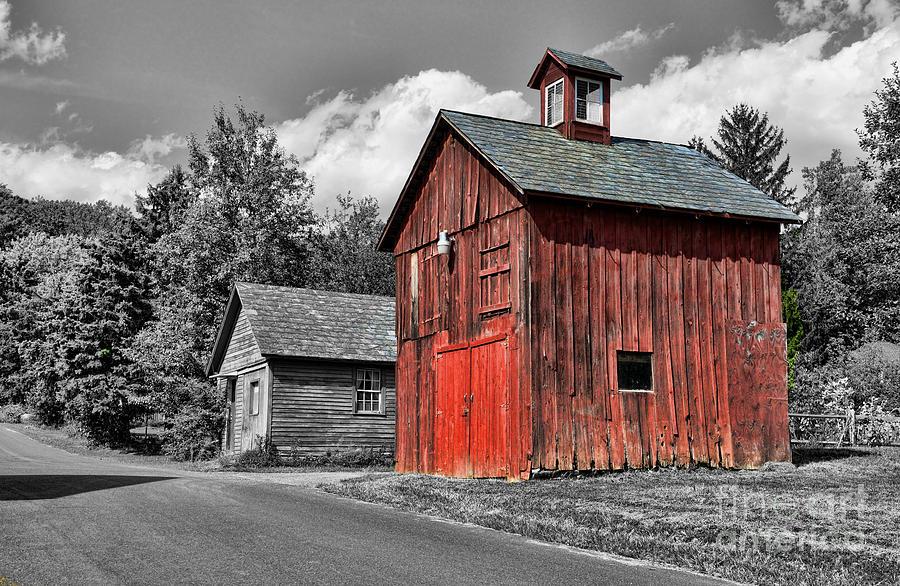 Farm - Barn - Weathered Red Barn Photograph