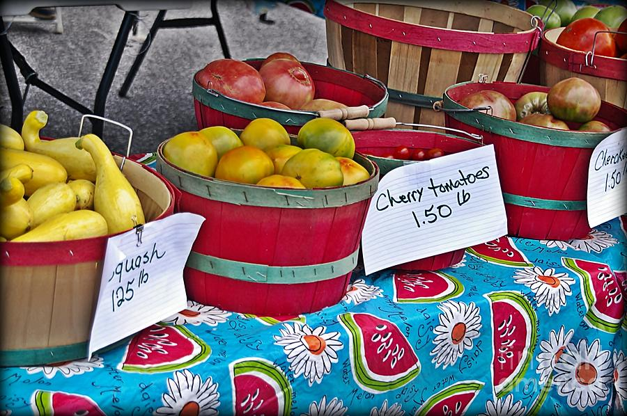 Farm Fresh Produce At The Farmers Market Photograph  - Farm Fresh Produce At The Farmers Market Fine Art Print
