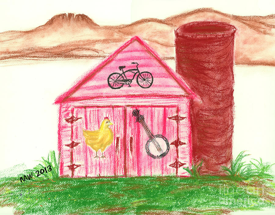 Farm Life Feeds Us All Pastel  - Farm Life Feeds Us All Fine Art Print