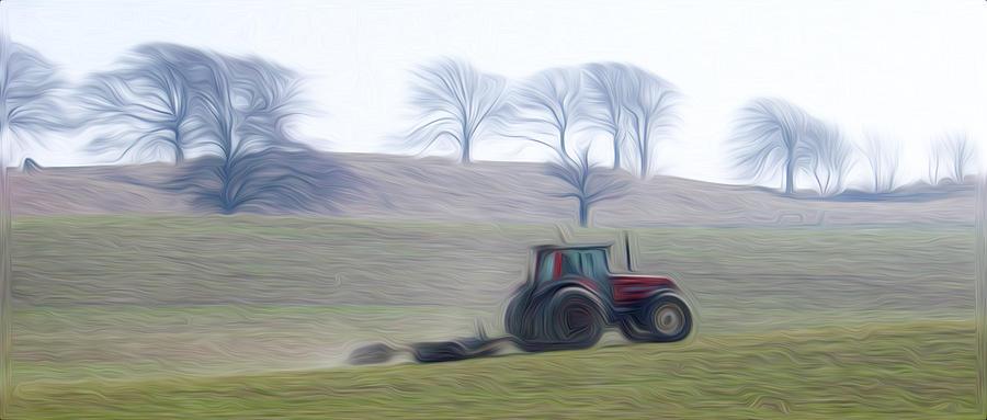 Farm Tractor Pyrography